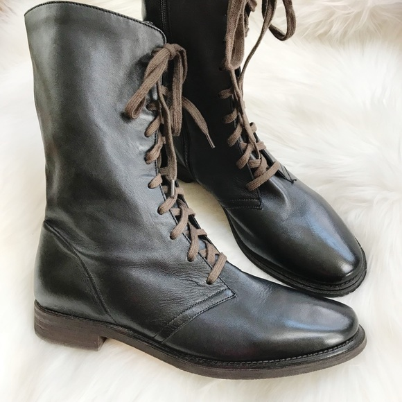 Lace Up Leather Combat Boots | Poshmark
